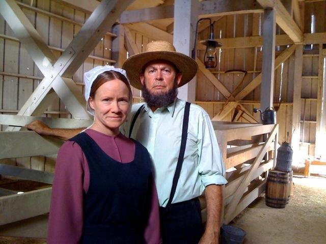 Amish Barn with Jenny